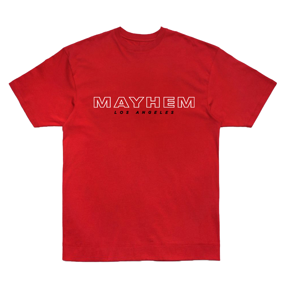 MAYHEM RED LOGO T-SHIRT