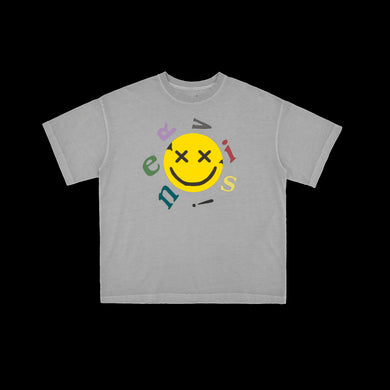 NERVIS LIGHT GREY SMILE PUFF-PRINT TEE