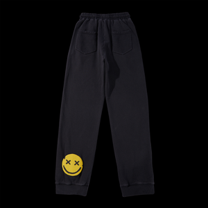 NERVIS BLACK PUFF-PRINT LOUNGE PANTS