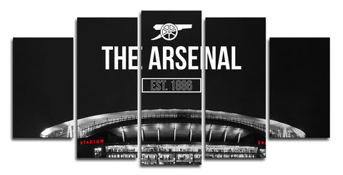 5 Panel Arsenal Stadium Canvas Wall Painting, canvas art - Glocal Cart