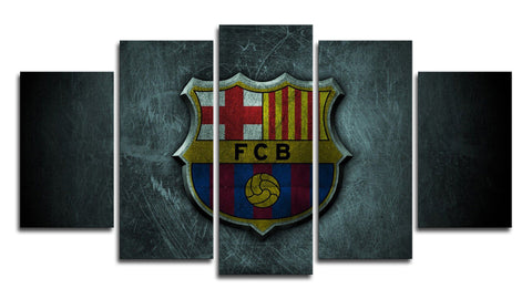 5 Panel Barcelona Logo Canvas Wall Painting, canvas art - Glocal Cart