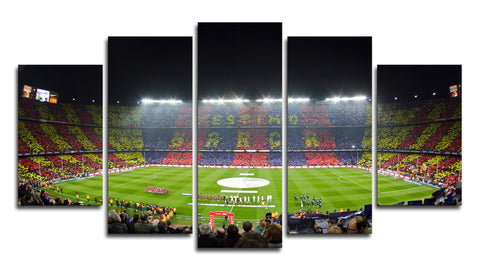 5 Panel Barcelona Stadium Canvas Wall Painting, canvas art - Glocal Cart