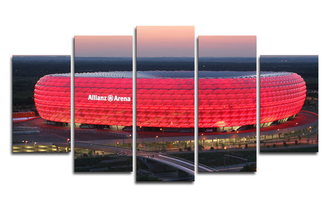 5 Panel Bayern Munich Allianz Arena Canvas Wall Painting, canvas art - Glocal Cart