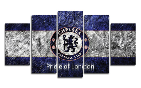 5 Panel Chelsea FC Canvas Wall Painting, canvas art - Glocal Cart