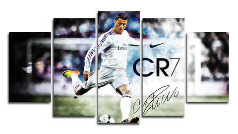 5 Panel Cristiano Ronaldo CR7 Canvas Wall Painting, canvas art - Glocal Cart
