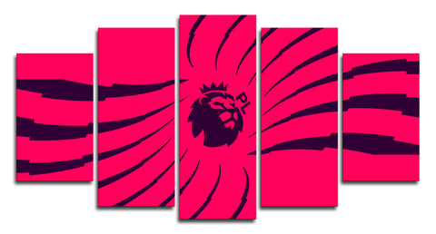 Premier League Logo 5 Panel Canvas Wall Painting, canvas art - Glocal Cart