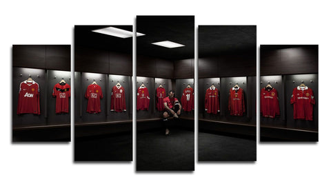 Giggs Manchester United 5 Panel Canvas Wall Painting, canvas art - Glocal Cart