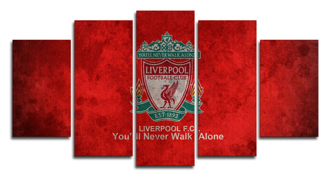 Liverpool FC 5 Panel Canvas Wall Painting, canvas art - Glocal Cart