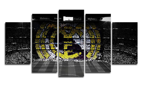 Real Madrid Stadium 5 Panel Canvas Wall Painting, canvas art - Glocal Cart