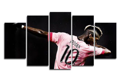 Paul Pogba Dab Celebration 5 Panel Canvas Wall Painting, canvas art - Glocal Cart