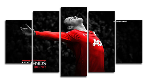 Wayne Rooney 5 Panel Canvas Wall Painting, canvas art - Glocal Cart