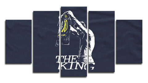 Messi 'The King' 5 Panel Canvas Wall Painting, canvas art - Glocal Cart