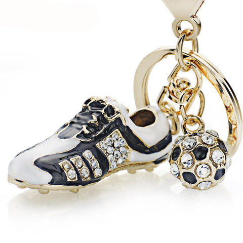 Crystal Football Soccer Shoes Keychain, keychain - Glocal Cart