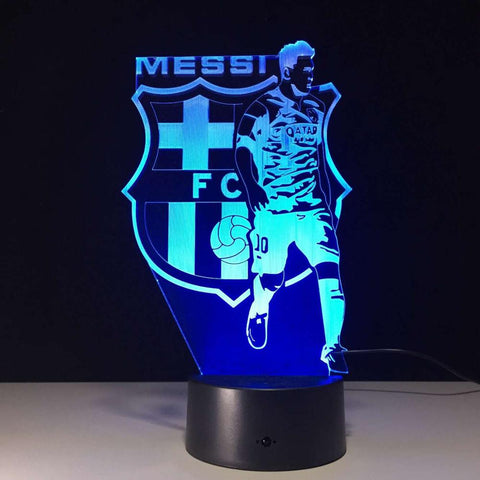 3D LED Lamp Lionel Messi Barcelona, lamp - Glocal Cart