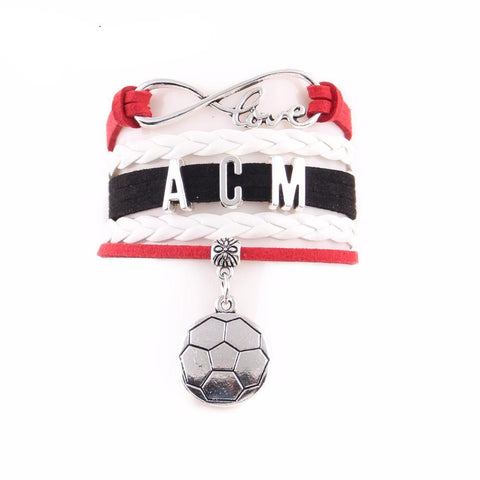 AC Milan Leather Wrap Bracelets, Bracelet - Glocal Cart