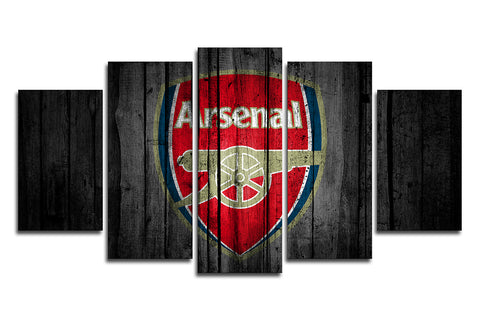 5 Panels Arsenal FC Canvas Wall Painting, canvas art - Glocal Cart