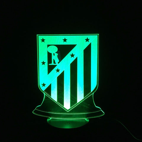 3D LED Lamp Atletico Madrid, lamp - Glocal Cart