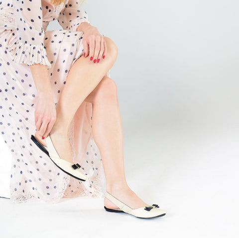 take your evening wear up a notch with nude slingbacks
