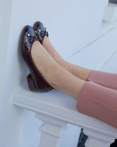 you'll never want to take our comfy heels off