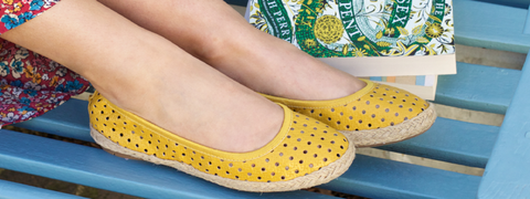 yellow pumps to keep summer sunny