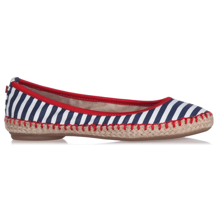 GIGI NAVY/WHITE STRIPES
