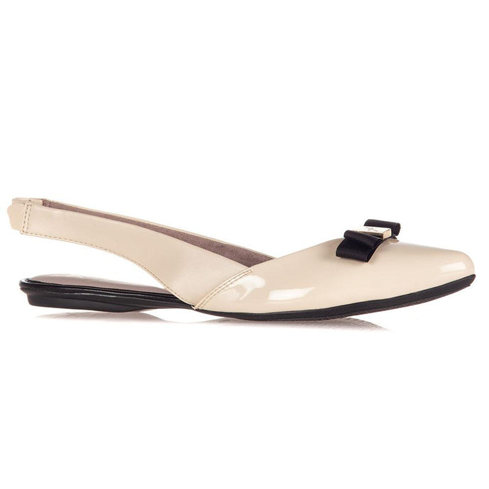 MAREN CREAM/BLACK PATENT