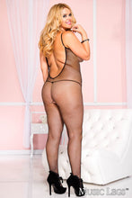 Fishnet Deep 'V' Bodystocking - ML1291Q