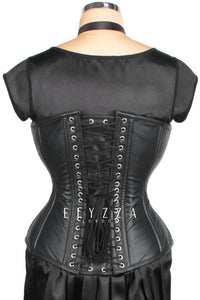 Waist Reducing Leather Over-bust Corset (ELC-301)