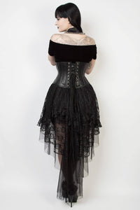 GX-339 - Black Lace Gothic Skirt