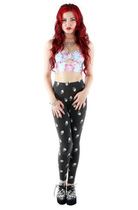 IRON FIST Skull A Dot Leggings