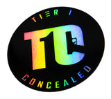 Holographic T1C stickers