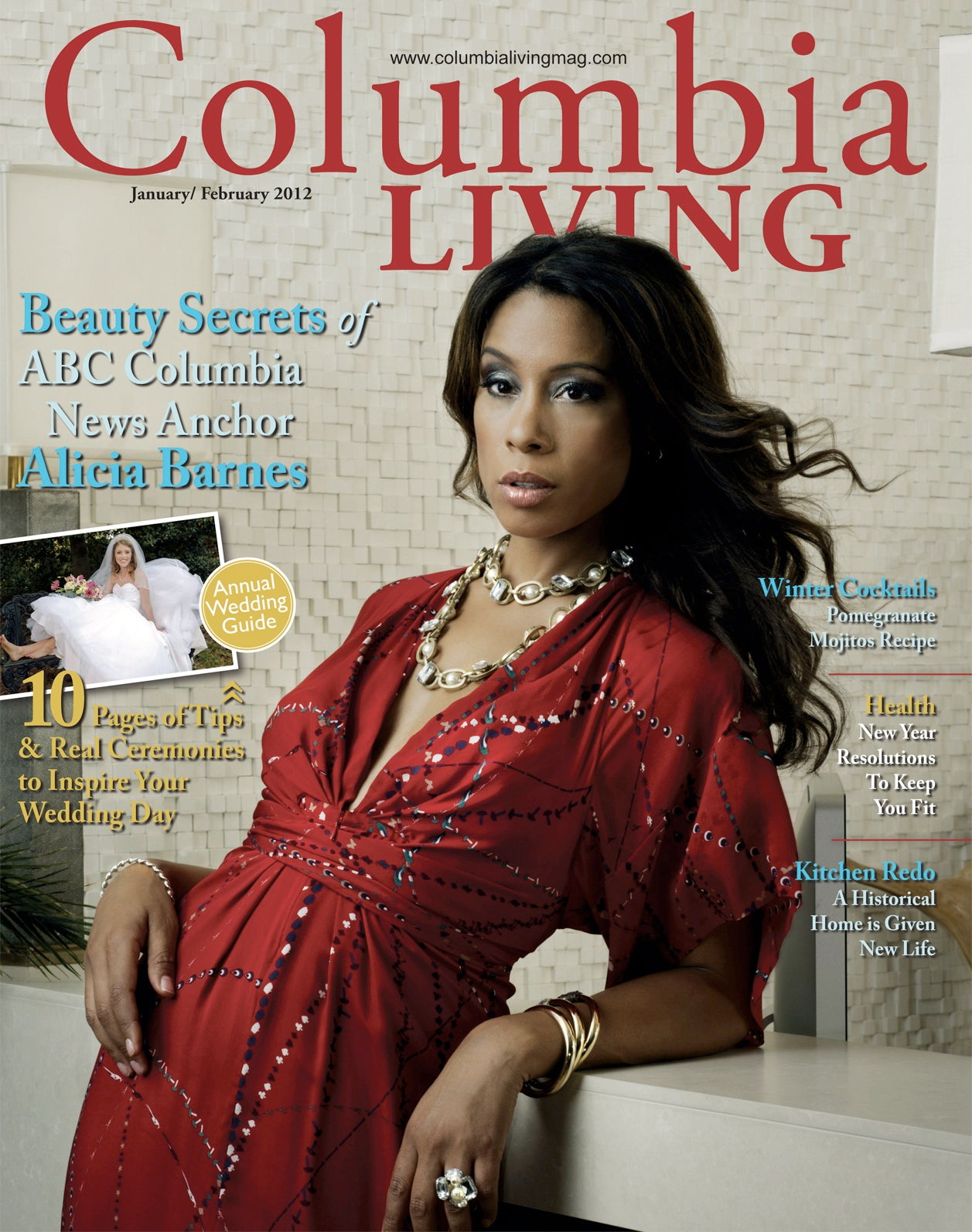 snapshot of Beauty Secrets of ABC Columbia News Anchor Alicia Barnes favorites featured in the Jan/Feb 2012 issue of Columbia Living Magazine