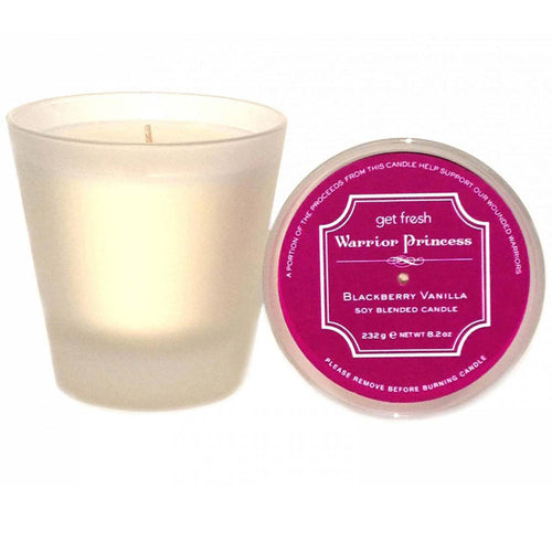 Warrior Princess Soy Blended Candle - Blackberry Vanilla
