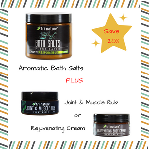 Bath Salts & Muscle Rub or Rejuvenating Cream