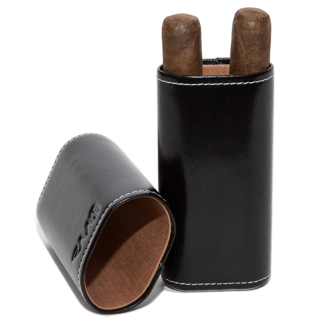 Cigar Case with Spanish Cedar Lining - Leather