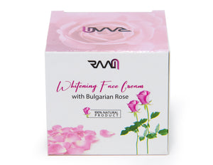 Whitening Face Cream with Bulgarian Rose - Lab Tested and Certified 100% Natural (50 ml)