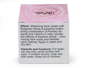Whitening Face Cream with Bulgarian Rose for Skin Brightening, Anti Aging, Dark Spots and Freckles