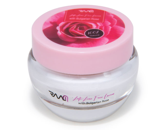 Anti Acne Face Cream with Bulgarian Rose for Acne, Aging Signs and Blemishes