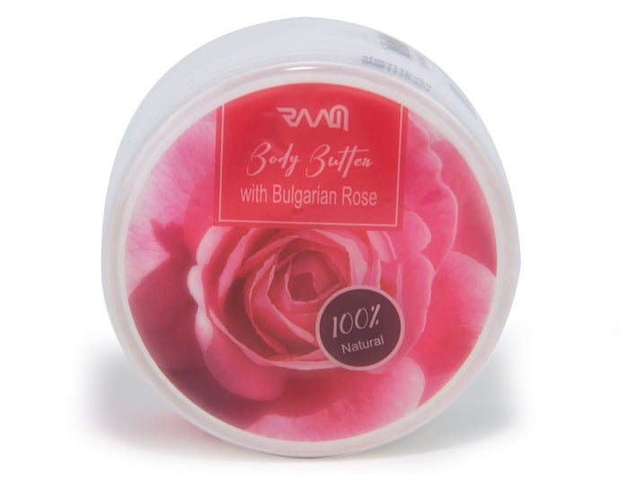 Body Butter with Bulgarian Rose -  Anti Aging, Collagen Stimulating and Elasticity Boosting