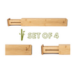 Bamboo Drawer Dividers | Adjustable and Expandable | Set of 4 Drawer Organizers