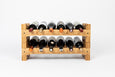 Stackable Wine Rack | Modern Countertop Wine Rack | Holds 12 Bottles | Exclusive Design - Vistal Supply