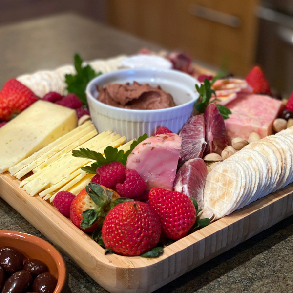 Cheese and Charcuterie Board Gift Set with Cheese Knives