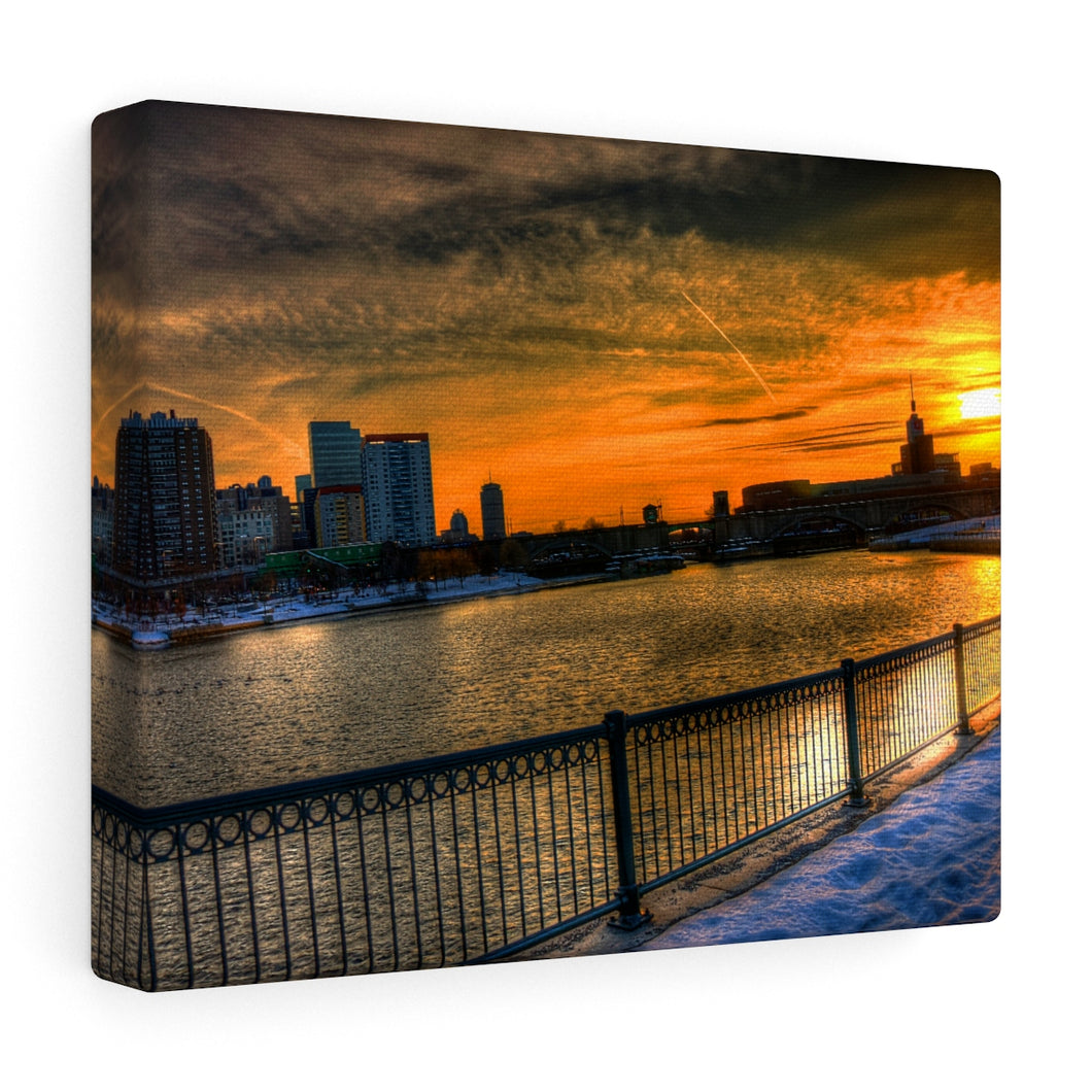 Charles River with Sunset over the MOS Canvas Print
