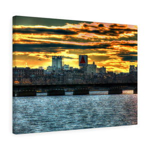 Boston Sunset from Memorial Drive Canvas