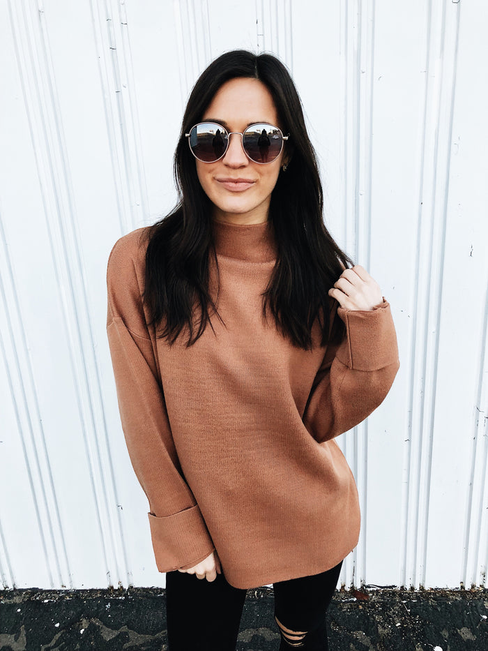 Fall Feels Cutout Sweater