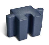 Logic Furniture Pediatric Jigsaw 2 Edge Tab Navy (Blue) Ottoman