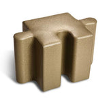 Logic Furniture Pediatric Jigsaw 2 Edge Tab Taupe (Taupe) Ottoman