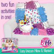 DIY Unicorn Sewing Blanket & Pillow Kit