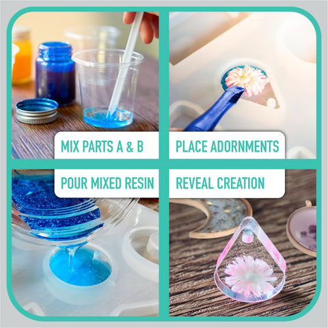 Resin Kit by Craft It Up! Complete Starter Jewelry Making Resin Kit for Beginners