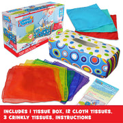 Sensory Pull Along Toddler Infant Baby Tissue Box
